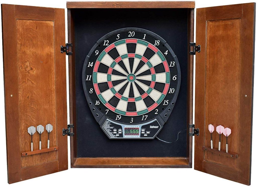 Hathaway Brookline Dartboard Cabinet