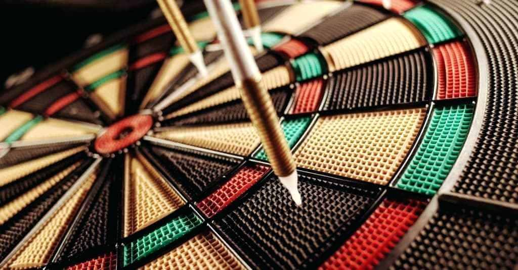 soft tip darts in dartboard
