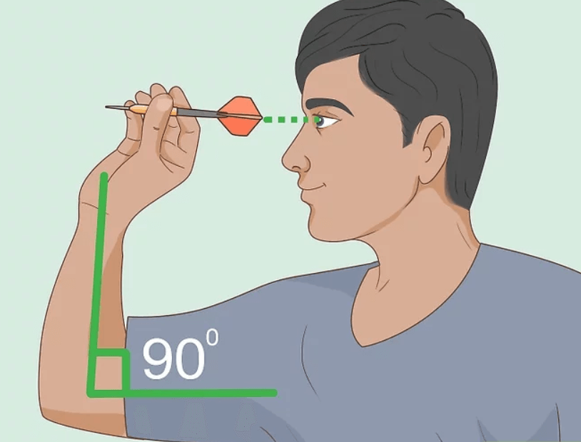 throwing darts arm position