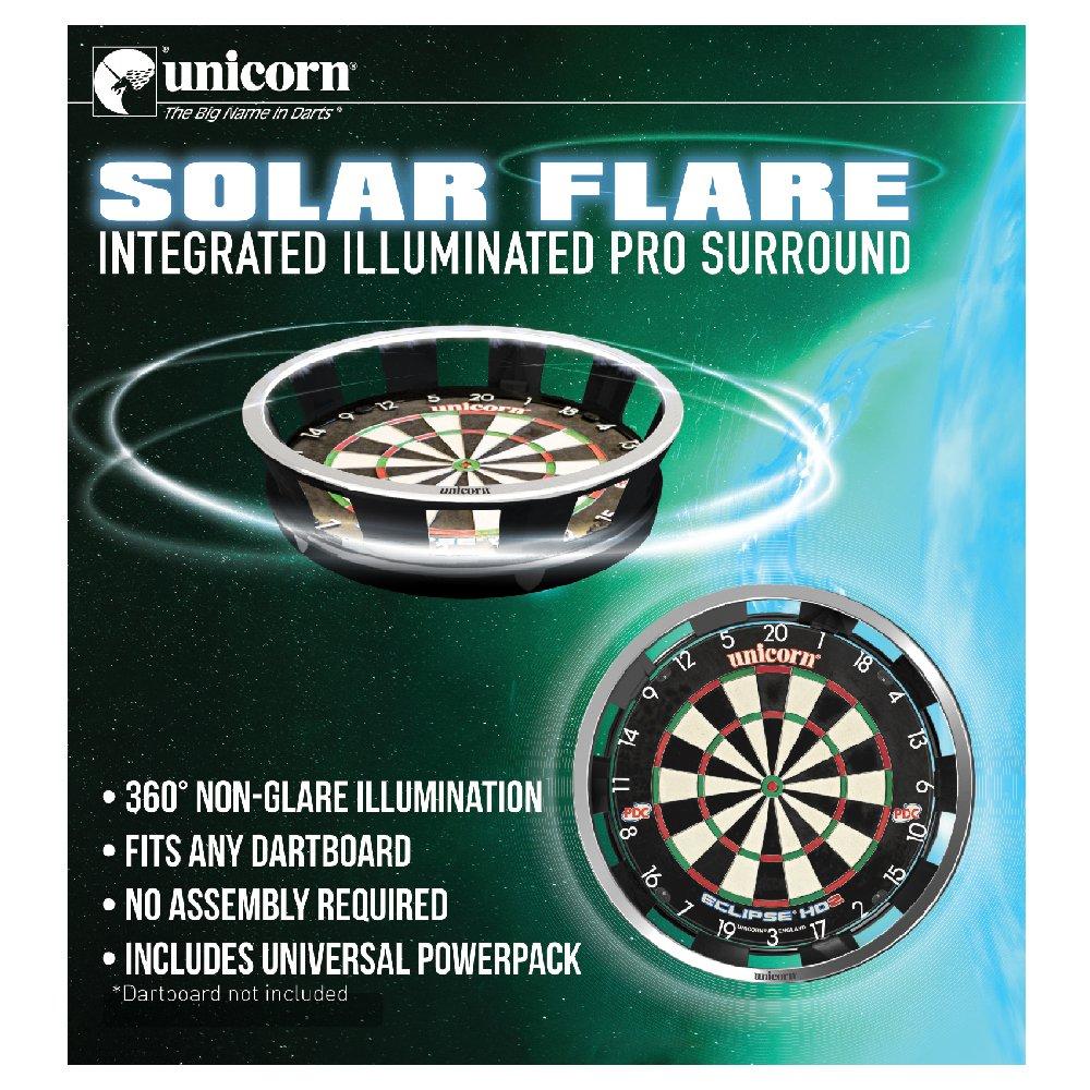 Unicorn Solar Flare Dartboard Light Features