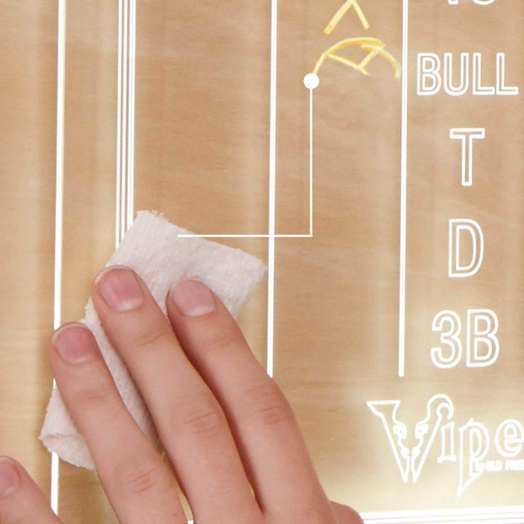 cleaning the Viper Illumiscore Scoreboard