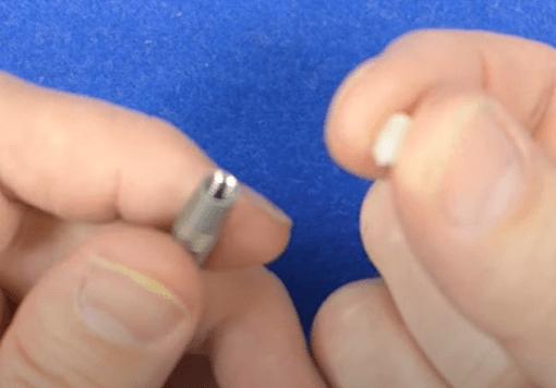 removing a broken dart stem using a dart point